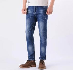 China China factory Long size blue Mens Jeans and modern trousers Denim Pants on sale