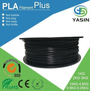 China Eco-friendly plastic raw material PLA 3d printer filament with 1.75mm 2.85mm 3mm diameter on sale
