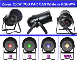 China ZOOM 200W COB LED PAR CAN/LED PAR LIGHT/ LED STAGE LIGHTING/COB LIGHT on sale
