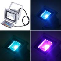 China IP65 Color Changing 12V 10W RGB led remote control outdoor flood light , bridgelux , 1 PCS on sale