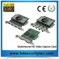 China 2 Channels / 4 Channels HD Video Capture Card for HD Video to PCI-e on sale
