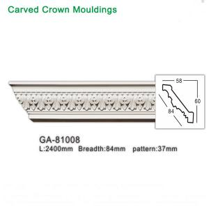 China Top Grade PU Foam White crown molding ceiling cornice for interior decoration wholesale