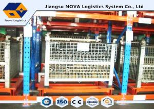 China CEO Push Back Pallet Warehouse RackingMaintenance Free With Pallet Carts Carriages on sale