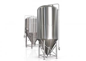 China Stainless Steel Beer Insulated Dimple Jacket Conical Beer Fermenter Fermentation Container on sale