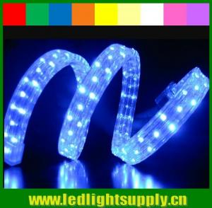 China 100 meters PVC led rope light 4 wires DIP 5mm led flex rope for club on sale