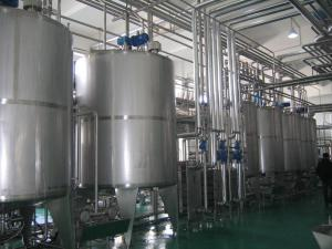 China High Speed 2000 LPH Yogurt Processing Line Stainless Steel With Vertical Agitator on sale