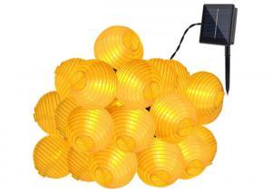 China Yellow 20 LEDs Solar Powered Christmas Lights / Decorative Outdoor Solar Garden Lights on sale