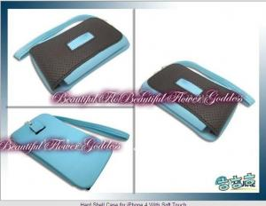 China hard shell case for iphone 4g with blue color on sale