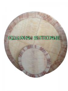 China Waterproof Marble Stone Countertops / Cultured Marble Vanity Tops For Restaurant on sale