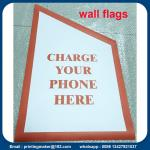 Custom PVC Wall Flags and Banners with Flagpole