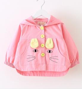 China Fashion childern jacket cute cartoon pattern warm small coat for kid winter wear on sale