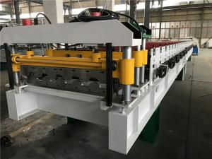 China 0.4 - 0.6mm Steel Thickness Tile Roll Forming Machine One Complete Chain With Decoiler on sale