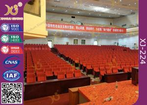 China Soft Closing Fold Up Auditorium Theater Seating Abrasion Resistant Fabric on sale
