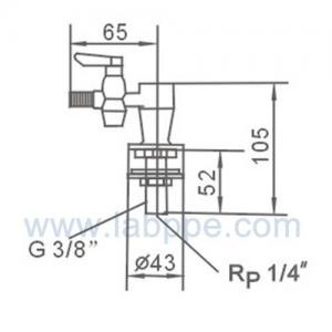 Quality SH801A-Single outlet gas fitting,Lab Gas tap,air valves/cock,Deck mounted,quick open for sale