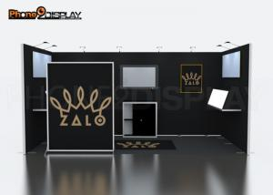 China 20×10 Ft Modular Trade Show Booth , Custom Exhibition Stand Design For Advertising on sale