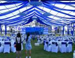 Luxury Frame Beautiful Marquee Canopy Tent With UV Resistant PVC Fabric Cover