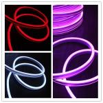 Ultra thin 11x19mm flexible led neon strip light flat emitting side view Neonflex