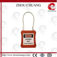 Safety Long Retractable Cable Stainless Steel Pad Lock