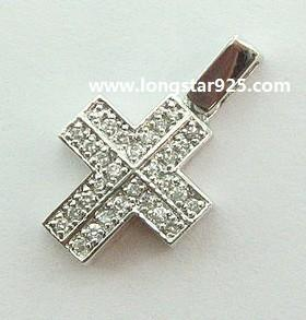 China 925 silver cross pendant, cross silver jewelry on sale