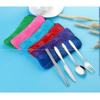 Eco Friendly Stainless Steel Outdoors Travelling 4pcs Tableware Set for Wholesale or Promotional Gifts