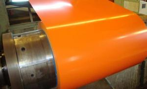 China ASTM A792 Orange Painted Aluminum Coil , Akzo Nobel Paint Galvalume Sheet Metal on sale
