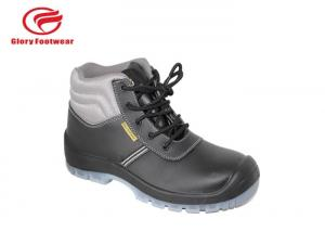 China Fashionable Construction Genuine Leather Safety Shoes BK Mesh / Cambrelle Lining 6 Inch on sale