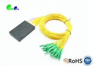 China Fiber Optic PLC Splitter 2x32 Splice Pigtailed ABS Module 2.0mm LC / APC Singlemode on sale