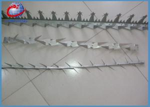 China 2mm Hot Dipped Galvanized Concertina Razor Wire Anti Climb Wall Spikes For Fence on sale