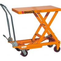 Low Noise Manual Lift Table , 750kg Electric Hydraulic Scissor Lift Table Truck