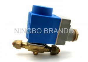 China EVR 3 220/230V AC Refrigeration Solenoid Valve with Brass Body , Liquid Line Solenoid Valve on sale