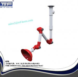 China PP fume extraction arm, 3 joint laboratory extractor arm, ceiling mounting on sale