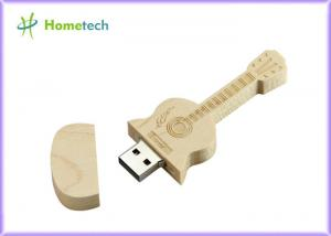 China Usb Stick Wooden guitar Box USB Flash 2.0 Memory Stick Pen 32gb / 64gb on sale