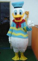 Quality handmade adult plush Donald Duck disney cartoon costumes in marine uniform for sale