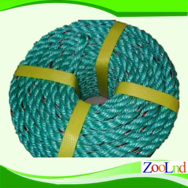 Multifilament, Monofilament, ribbonfil PP Twisted Rope 4-40mm for