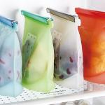 Fancy reusable silicone food storage bag large food storage bag fresh food fruit vegetable storage bag