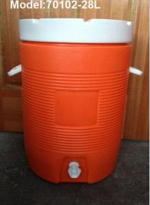 China 11Gallon 43L  Outdoor Plastic Cooler Box Milk bucket  Igloo water cooler 48H cooler on sale