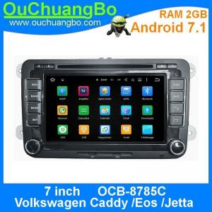 China Ouchuangbo auto radio 2G RAM dvd player for Volkswagen Caddy Eos Jetta with Androi 7.1 AUX-IN MP3 FM USB SWC Function on sale