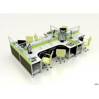 Contemporary Furniture Modular Partition Cubicle Office Workstation for 6 Seater