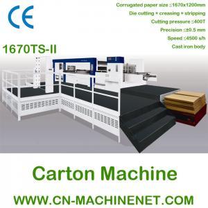 ZJ-1670TS-II auto corrugated sheet die cut machine to make