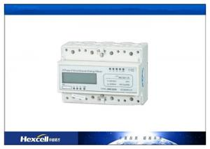 China 3 Phase 4 Wire DIN Rail Energy Meter / CT kWh 0.8Un ~ 1.15Un Working Voltage on sale