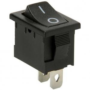 China 6A 250V Passive Electronic Components SPST Copper Boat Rocker Switch 2 Position on sale