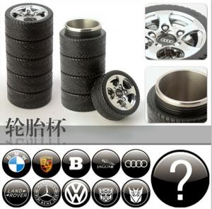 China stainless steel Tire trye shape cup Travel mug Creative Coffee Cup,can be with all the car brand on sale
