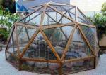 Easy Assembled Geodesic Dome Greenhouse Selectable Size Soft PVC Walls & Glass Walls