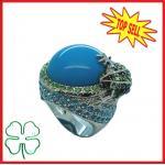 Верхнее кольцо Кристл лягушки моды надувательства 2012