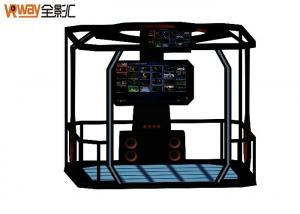 China Coin Operated Arcade Game VR Shooting Simulator VR Skiing Simulator With 65 Inches Screen , Color Customized on sale