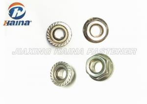 China Metric A4 70 Stainless Steel Flange Nuts Plain Color For Pipe Connections on sale