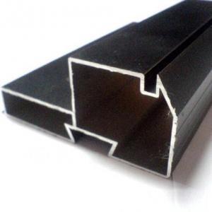 China Black Powder Coated RAL9006 Aluminium LED Profiles / Aluminum Extrusion Profiles on sale