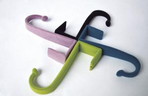 China Portable Flocking Door Hook Flocked Clothes Hangers For Home / Hotel on sale