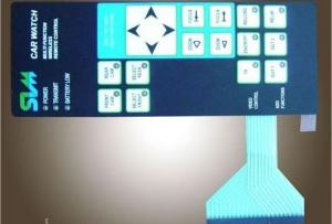 China PET Film Overlay Matrix Membrane keypad , Touch Screen Keyboard Membrane Switch on sale