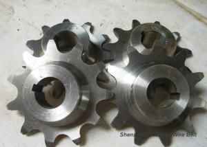 Quality Stainless Steelball Bearing Idler Sprocket , Precise Metric Roller Chain Sprockets for sale